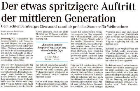 Mitteldeutsche Zeitung 28. Juni 2005