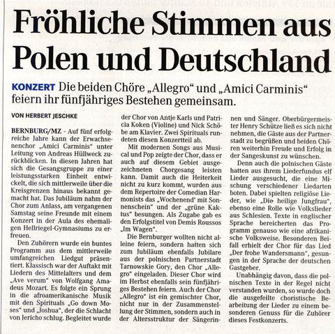 Mitteldeutsche Zeitung 23. März 2009