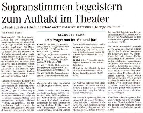 Miteldeutsche Zeitung 28. April 2008