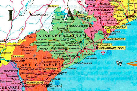 Région de Prathipadu (Cliquer sur l'image pour l'agrandir)