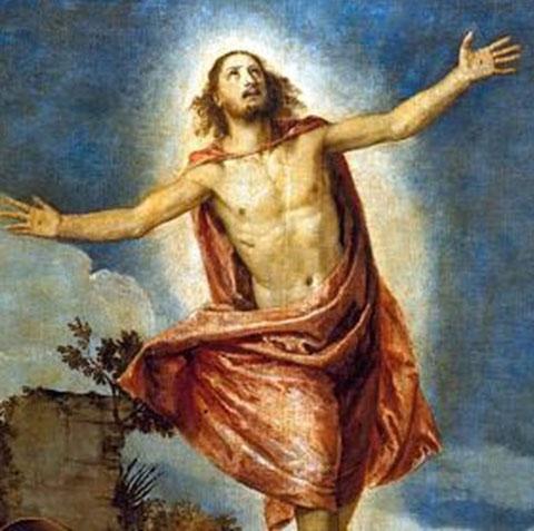 """""""Auferstehung Christi"""" von Paolo Veronese (1528-88), ein ähnliches Motiv von Prof. Viktor Schneider, Bühl, Näfels, war auf die Auferstehungstafel gemalt. (Foto:"""