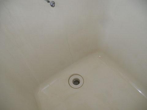 ラブホテル FRP浴槽 底面割れ