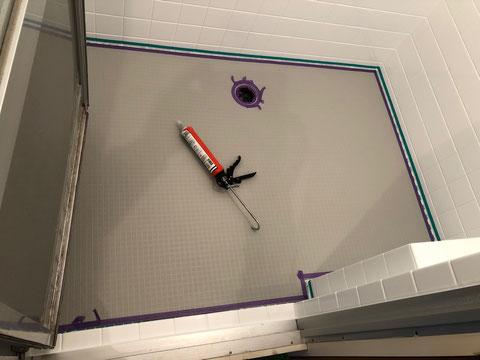 浴室用シート廻りシーリング処理