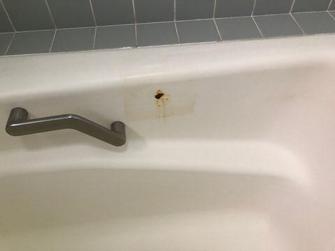 鋳物琺瑯浴槽修理、塗装