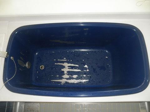 カラーステンレス浴槽塗装剥がれ