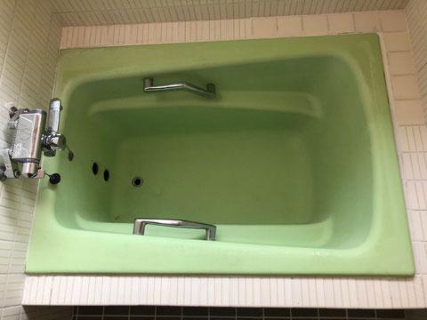 一般住宅鋳物琺瑯浴槽再生塗装