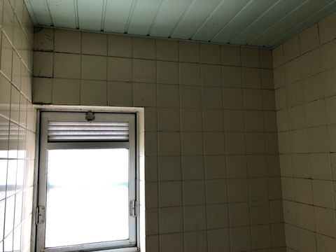 賃貸マンション浴室タイル汚れ、カビ
