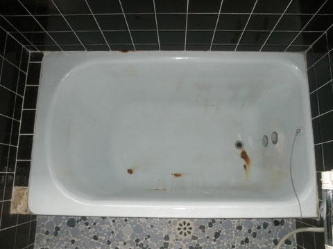 鋳物琺瑯浴槽 色あせ、さび、