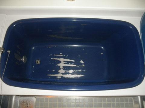 ステンレス浴槽 塗装剥がれ