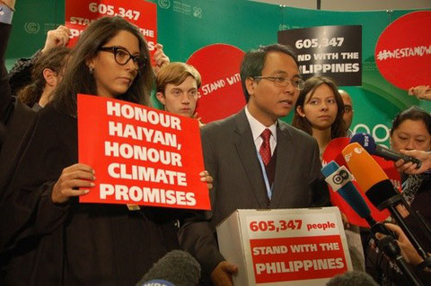 support yeb sano's call to action to take 'ambitious steps to address climate change' @ UN climate talks...