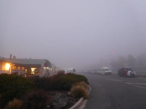 霧の中のレイクテカポ