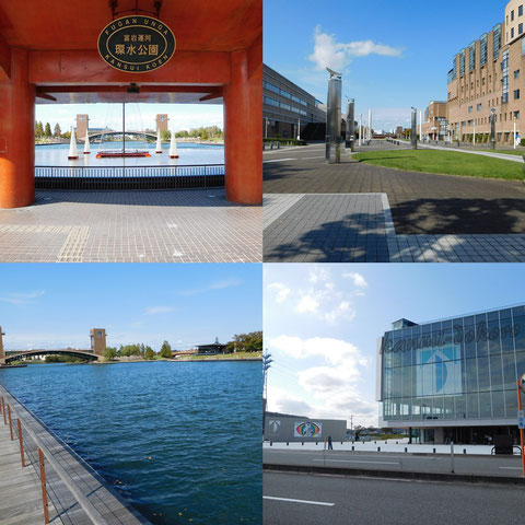 環水公園と美術館