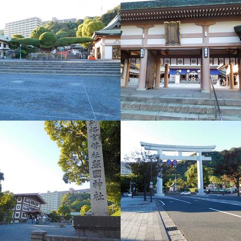 夕方から照国神社