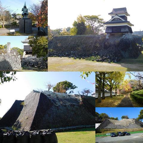 熊本城公園石垣は復旧中
