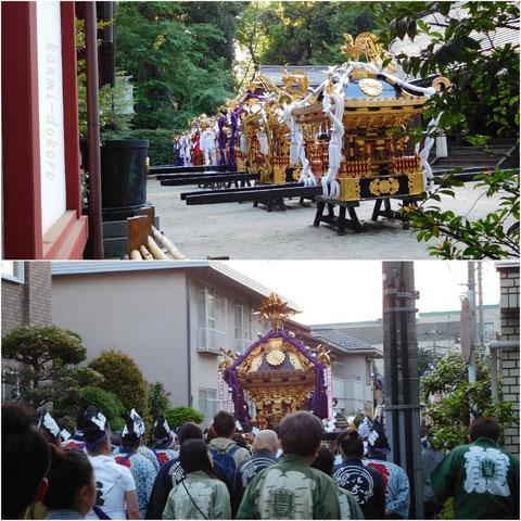くらやま祭りのお神輿6基
