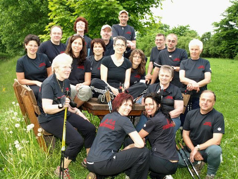 die Nordic Walking-Gruppe in 2008