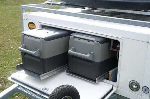 double réfrigérateur pour un maximum d'autonomie et des denrées toujours fraîches