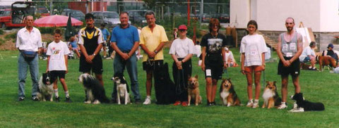 Die Teilnehmer für Dortmund mit Mannschaftsführer Fernand Eiffes