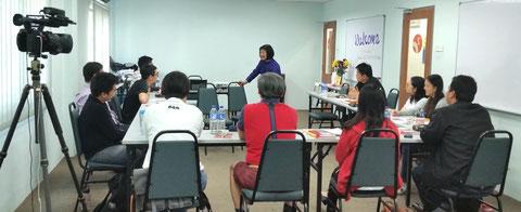 Dr Kweethai Neill teaching a class in Kuala Lumpur