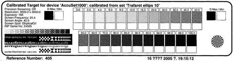 Рис.5. Тест - фотоформа для определения муара и определения градационной передачи