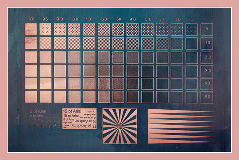 Рис.3. Тест - фотоформа для определения колебаний градаций тона