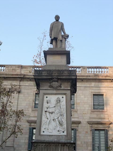 Барселона - памятник бизнесмену Лопесу