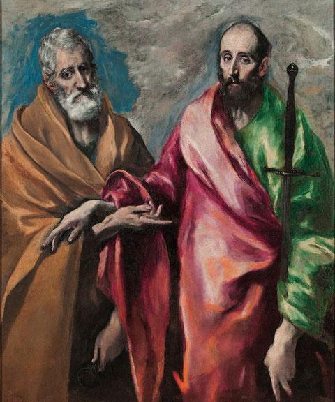Святые Петр и Павел - Эль Греко. Шедевры Национального музея искусства в Барселоне