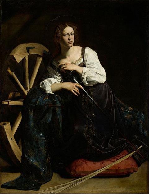 Знаменитые картины Караваджо - Святая Екатерина Александрийская