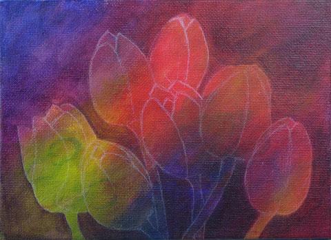 """""""Ein Jahr mit Blumen"""" - Tulpen malen - DIY-Projekt"""