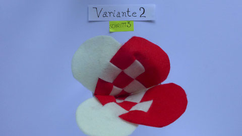 Geflochtenes Herz aus Filz - Schritt 3