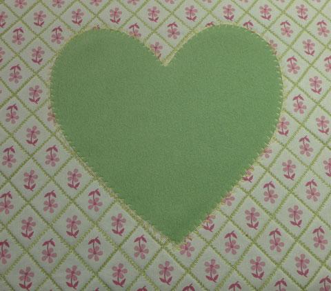 Dekoration - Kissen mit Herz nähen - DIY-Projekt