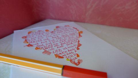 """Valentinstag - """"Last minute""""-Grußkarten - DIY-Projekt für Eilige - Beispiel 3"""