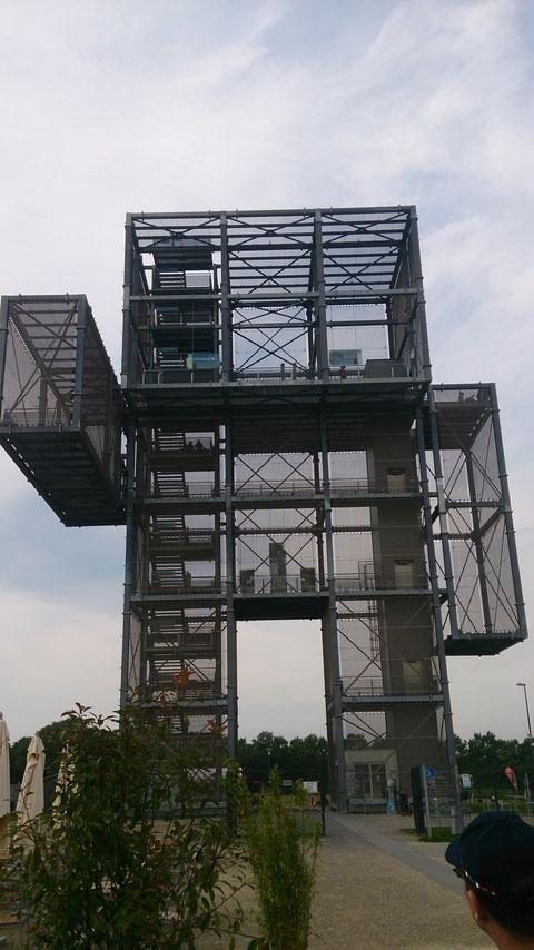 Und hier der Turm vom großen Indemann