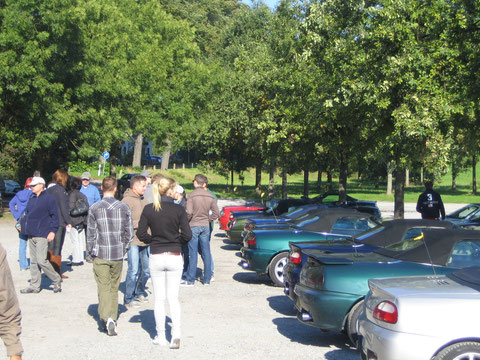 Ankunft Zons (Parkplatz)