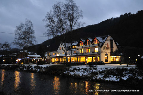Winterzeit am Hotel Strand-Cafe in Roßbach