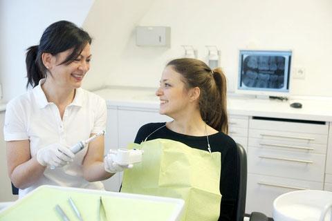 Anleitung zur richtigen Mundhygiene, Empfehlung von Zahnpflegeartikeln