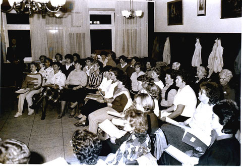 1. Chorprobe des Frauenchors