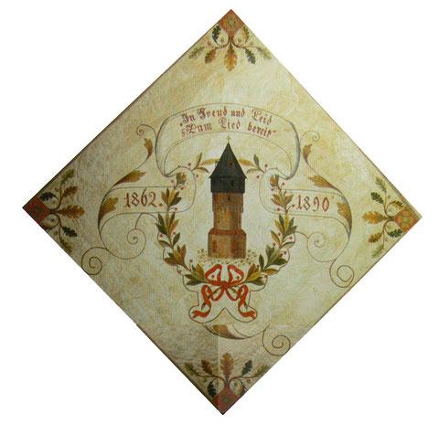 Die erste Vereinsfahne von 1862