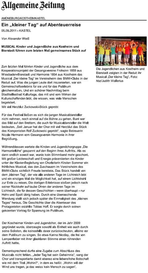 Letzter Musical-Auftritt in Mainz-Kastel