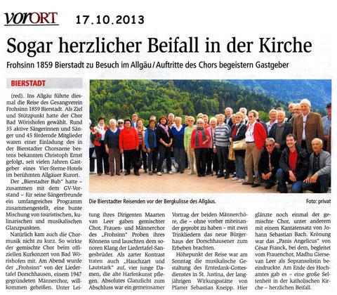 Chorreise nach Bad Wörishofen