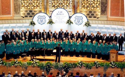 Gemischter Chor 1999 beim Jubiläumskonzert im Kurhaus