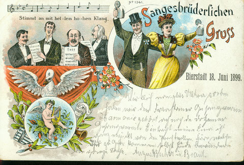 Postkarte anlässlich des 40-jährigen Bestehens