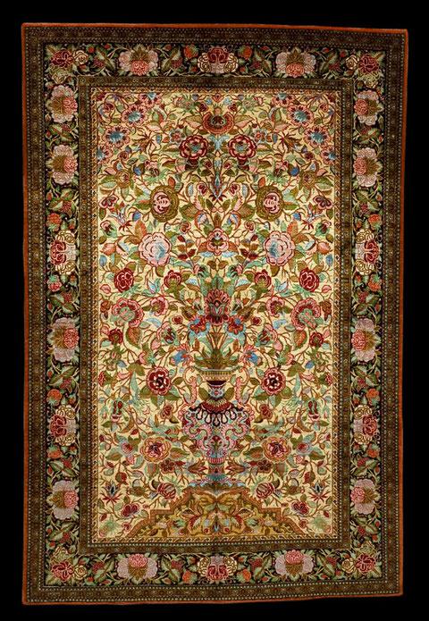 Ghom Seide Rosen, 170 x 100
