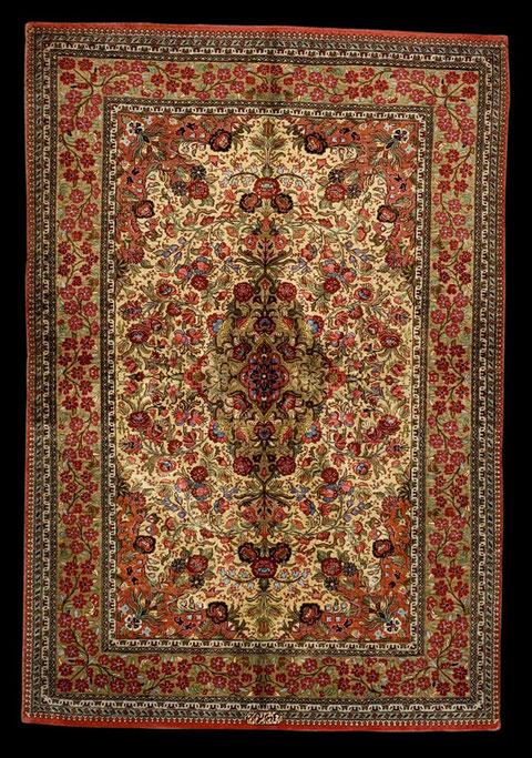 Ghom Seide Rosen, 150 x 100