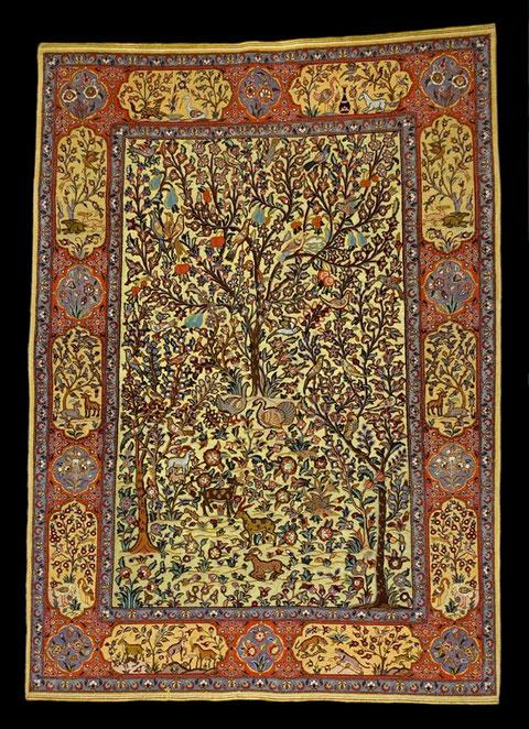 Teheran auf Goldfäden, Lebensbaum, 210 x 140