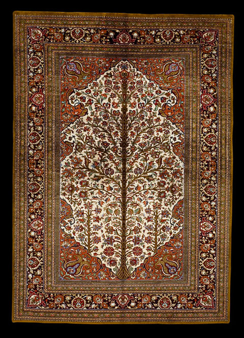 Ghom Seide, Lebensbaum, 150 x 100