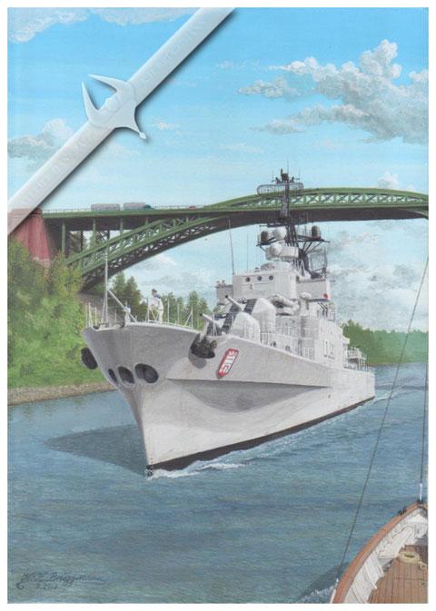 "Zerstörer ""Hamburg"" D181, Levensau -Nord-Ostsee-Kanal"