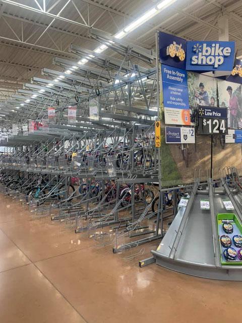 自転車が売り切れの状態