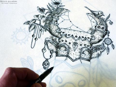 kitsch-paradise / artisans créateurs / affiche / événement