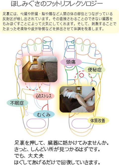 金沢市ほしみぐさのフットリフレクソロジー・足つぼは大変人気がある足つぼです。